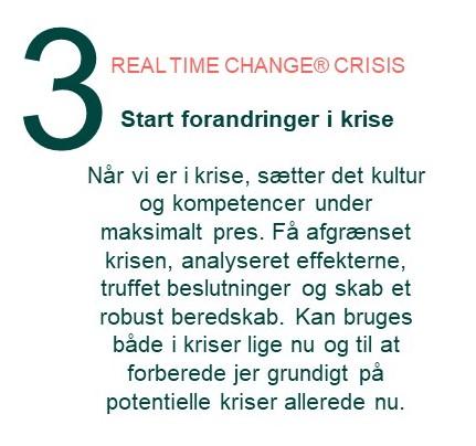 Inthrface Model - Real time change - crisis - Forandringsledelse