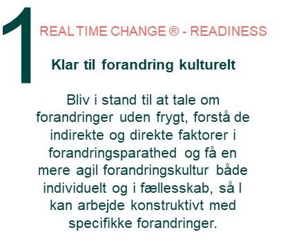 Inthrface Model - Readiness for change Forandringsledelse
